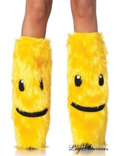 Jambières Smile jaune symboles noir - Leg Avenue